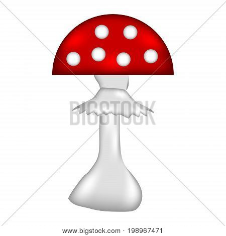 Amanita sign icon on white background. Vector illustration.