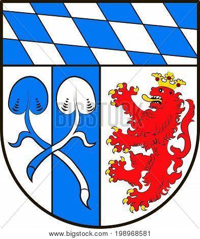 Coat of arms of Rosenheim in Upper Bavaria of Germany. Vector illustration
