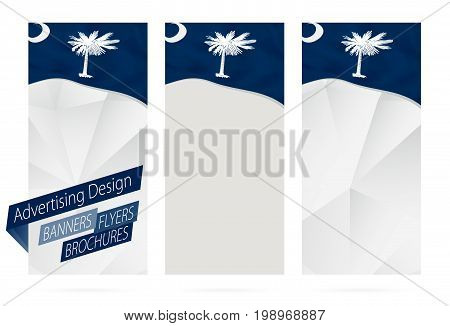 Design Of Banners, Flyers, Brochures With South Carolina State Flag.