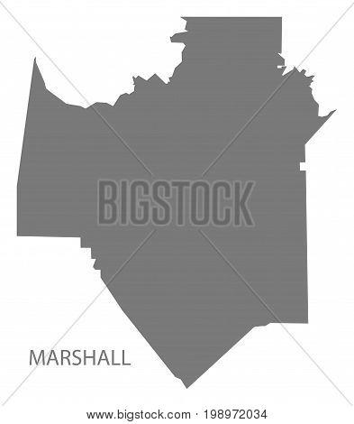 Marshall County Map Of Alabama Usa Grey Illustration Silhouette