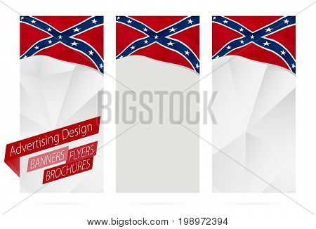 Design Of Banners, Flyers, Brochures With Confederate Flag.