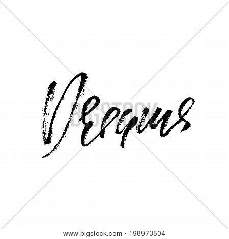 Dreams word. Hand drawn modern dry brush lettering. Vector typography design. Handwritten inscription