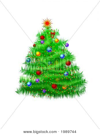 Christmas Tree - Hand Drawn Vector Format poster