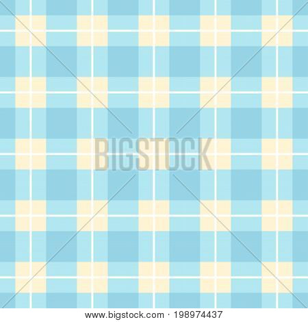 Seamless blue plaid pattern. Abstract vector background.