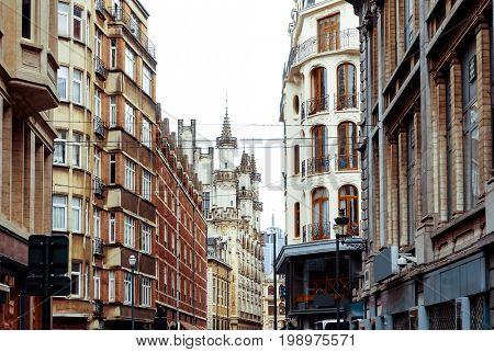 Cityscape in Brussels Europe - landmark of Brussels
