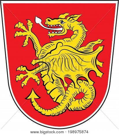 Coat of arms of Wartenberg is a municipality in the district of Erding in Bavaria in Germany. Vector illustration from the