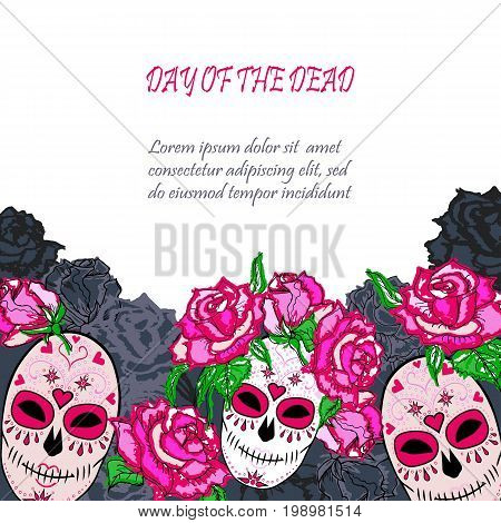 Sugar Skull Pink Vector & Photo (Free Trial) | Bigstock