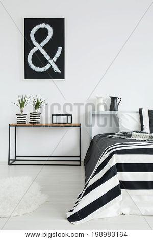Cozy Black And White Bedroom