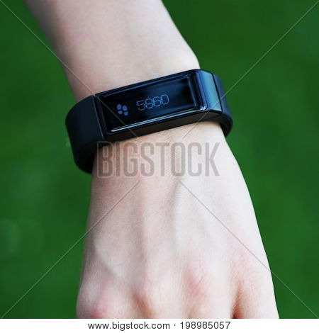 fitness or activity tracker, smartwatch with pedometer