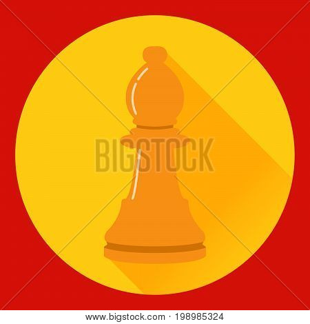 Icon of a chess figure the pawn in flat style a vector. A design concept for a logo or an element of the website. A figure from board game.Element of design of infographics