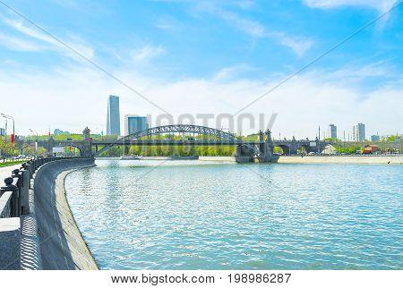 Luzhnetsky Bridge In Moscow