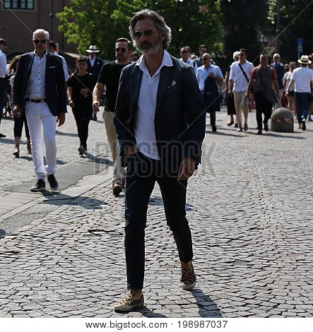 FLORENCE- 15 June 2017 Marco Zambaldo on the street during the Pitti
