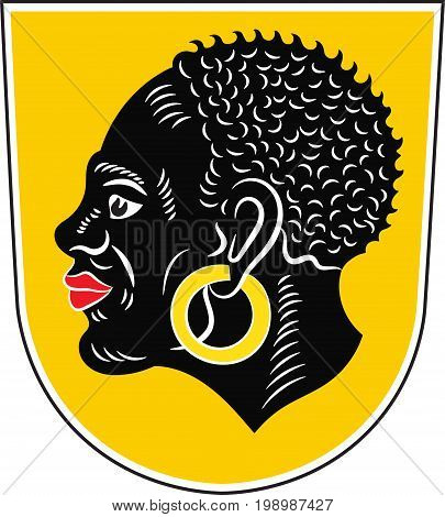 Coat of arms of Coburg is a town in the Upper Franconia region of Bavaria Germany. Vector illustration from the
