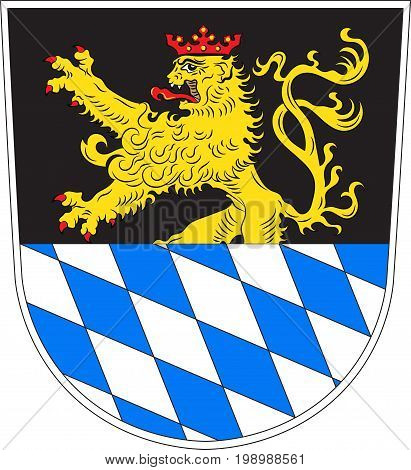Coat of arms of Amberg is a town in Bavaria Germany. Vector illustration from the