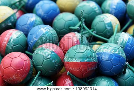 detal colorful mini bomb ball for background