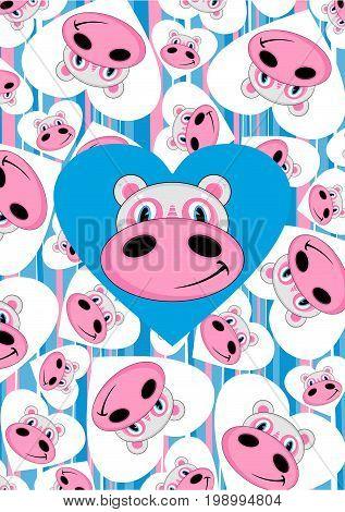 Cartoon Hippo 20