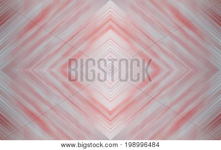 Rhombus soft pale blue and red, wallpaper design. Abstract technology background for templates, layouts, web pages. Kaleidoscope symmetric effect with strips and geometric shapes