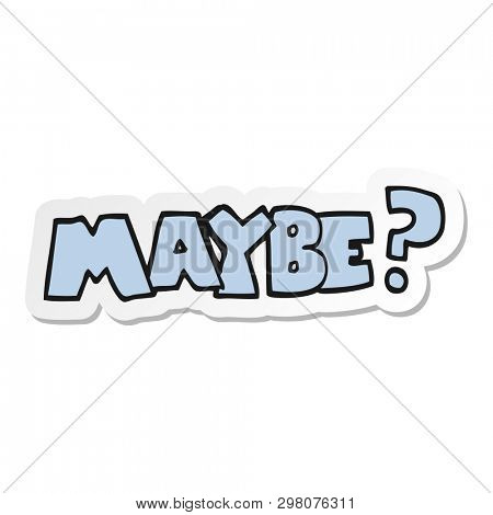 sticker of a maybe cartoon symbol