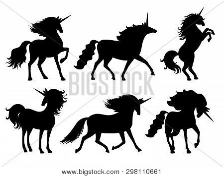 Unicorn Silhouettes  Vector & Photo (Free Trial) | Bigstock