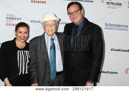 LOS ANGELES - APR 25:  Justina Machado, Norman Lear, Bob Saget at the Cool Comedy, Hot Cuisine 2019 at the Beverly Wilshire Hotel on April 25, 2019 in Beverly Hills, CA
