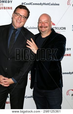 LOS ANGELES - APR 25:  BOb Saget, Jeffrey Ross at the Cool Comedy, Hot Cuisine 2019 at the Beverly Wilshire Hotel on April 25, 2019 in Beverly Hills, CA