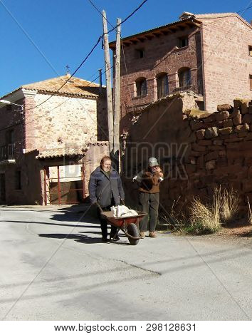 Rodenas, Spain. - Circa 2006 - The Village Of Rodenas Spain With A Population Of 80.