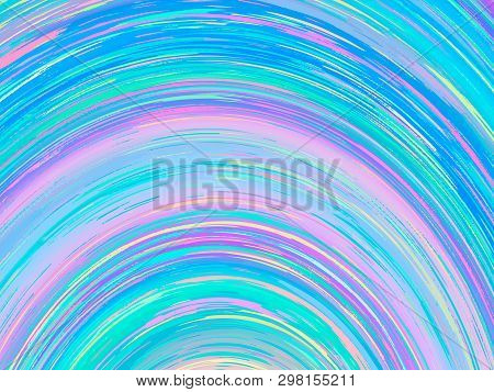 Vector Abstract Holographic Background 80s - 90s, Trendy Colorful Texture In Pastel, Neon Color Desi