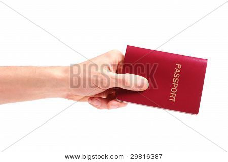 Hand With Passport