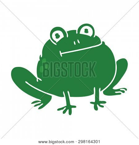 hand drawn quirky cartoon frog