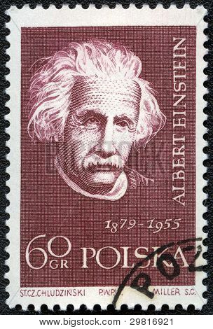 Poland - Circa 1959: A Stamp Printed In Poland Shows Albert Einstein (1879-1955), Circa 1959