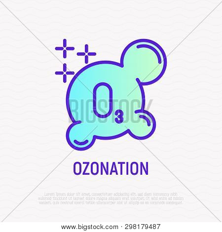 Ozonation Thin Line Icon. Modern Vector Illustration Of Additional Cleaning Clothing.