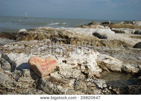 Happy Saint Valentine's on the rocks