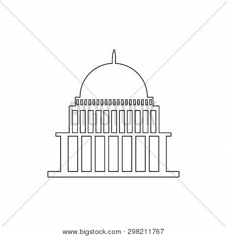 White House, Congress Capitoly Building Outline Icon. Elements Of Buildings Illustration Icon. Signs