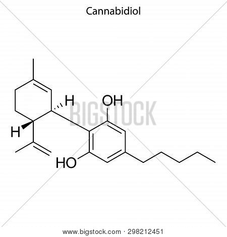Skeletal Formula Of Cannabidol. Chemical Molecule . Template For Your Design . Template For Your Des
