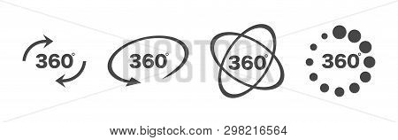 360 Degree Views Set Icon. 360 View Symbol. Set Of Line Icons. Vector Illustration