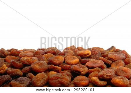 Stack Of Sundried Apricots Front View (studio Shoot Image)