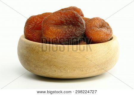 Sundried Apricot Bowl (isolated On White Background)