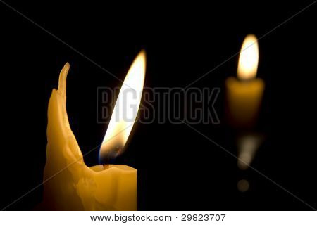 Two candles..