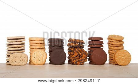 Alameda, Ca - April 19, 2019: Stacks Of Popular Girl Scout Cookies, Available Annually During Girl S