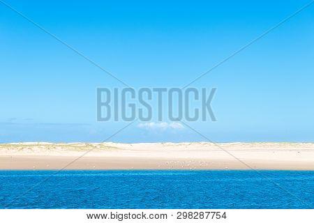 View Over Beautiful White Sandy Beach In Australia
