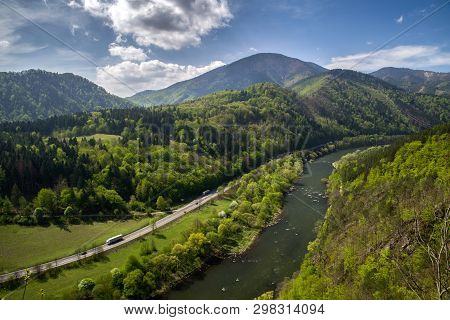 Domasinsky Meander And River Vah In Slovakia