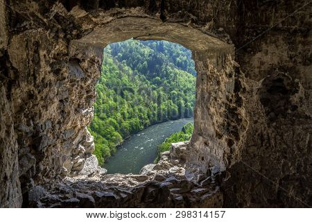 View From Ruins Of Medieval Castle Starhrad, Slovakia