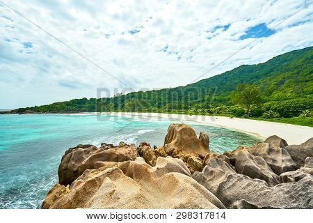 Anse Coco, Digue Island, Seychelles, Turqoise Water, White Sand, Tropical Beach