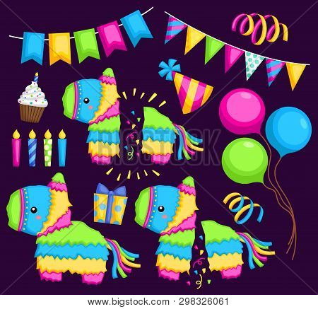 A Vector Of Pinata And Party Stuff