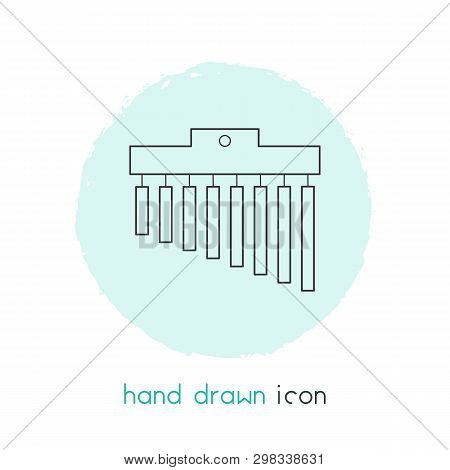 Chimes icon line element. Vector illustration of chimes icon line isolated on clean background for your web mobile app logo design. poster