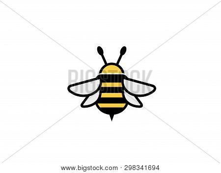 Creative Cute Bumblebee Insect Logo Design Illustration