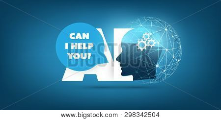 Futuristic Machine Learning, Artificial Intelligence, Cloud Computing, Automated Support Assistance