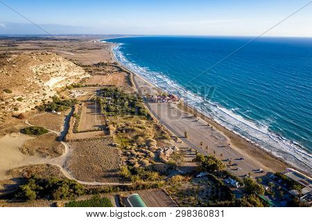 Elevated View Of Kourion Surroundings. Limassol District, Cyprus