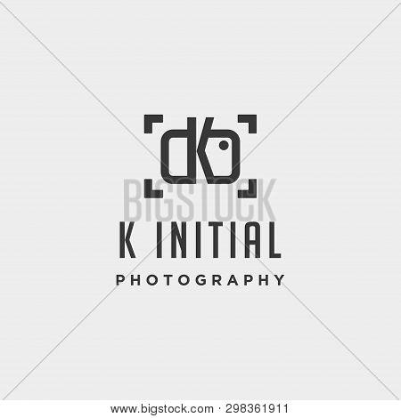 K Initial Photography Logo Template Vector Design