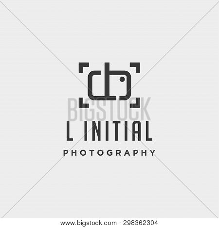 L Initial Photography Logo Template Vector Design